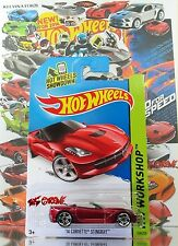 Hot Wheels 2014 #228 '14 Corvette® Stingray™ RED,NEW CASTING,1stCOLOR,PR5,INTL