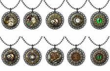 Steam Punk Clocks Bottle Cap Necklace Birthday Party Jewelry Favors Lot of 10