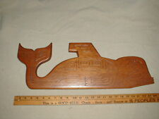 WEST COAST First Nation Native NW Indian Wood Carving ORCA WHALE Art Sculpture