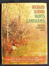 Richard Schmid Paints Landscapes oil painting alla prima plein air art book NICE