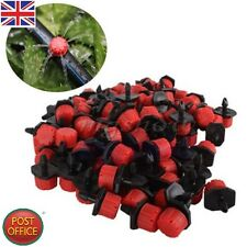 50Pcs Adjustable Micro Drip Irrigation Watering Emitter Drippers 2.5X1.5cm
