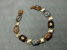 Pretty  artisan Holly Yashi multi stones niobium gold filled bracelet