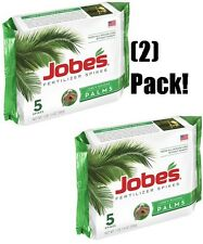(2) packages Jobe's 01010 5 Pack 10-5-10 Palm Tree Food / Fertilizer Spikes