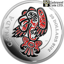 2016 The Eagle-Realms of the Haida Proof $50 Silver Coin 5oz .9999Fine(17600)NT