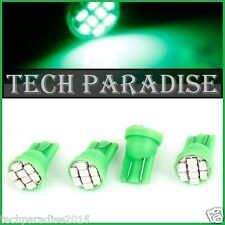 10x Ampoule T10 / W5W / W3W LED 8 SMD 1206 Vert Green veilleuse lampe light 12V