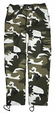 New Men's Military Army Cargo Camo Camouflage & Plain Combat Trousers Pants