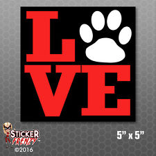 Love Paw Dogs Cats Bumper Sticker Car Decal Pets Cartoon Laptop Furry Family Kid