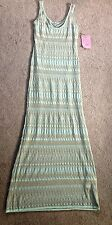 Victorias Secret NEW Long Ribbed Green Gold Maxi Dress Beach NWT  One of a kind
