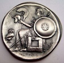 Greek Mythology Sterling Silver Medal Athena Goddess of Wisdom and War (P.Book)