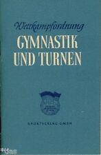 Wettkampfordnung Gymnastik und Turnen DDR 1951