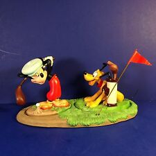 WDCC Disney Set of 3 CANINE CADDY Mickey Mouse & Pluto Golfing w/ boxes