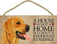 Rhodesian Ridgeback Wood Sign Wall Plaque 5 x 10 + Bonus Coaster