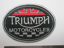 Triumph motorcycles sew / iron on patch biker UK Seller NEW classic embroidered
