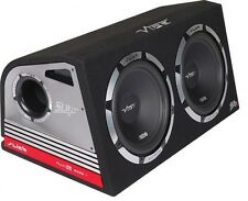 "Vibe Slick Double 12"" Amplified Subwoofer Box 2400w Built in AMP"