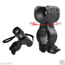 Torch Clip Mount Bicycle Front Light Bracket Flashlight Holder 360°Rotation New