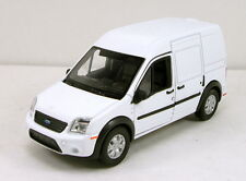 "Welly Ford Transit Connect 4.5"" diecast model van wagon White W65"