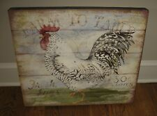 BiG ROOSTER Chicken Eggs Wood PICTURE*Primitive/French Country Farmhouse Decor