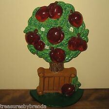 Cast Iron Apple Tree Doorstop Country Kitchen Farm Decor Accent