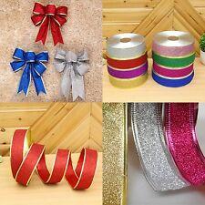 Weihnachtsband Funkeln Schleifenband für Hochzeit Dekor Weihnachten Bänder Bogen