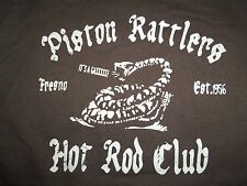 Piston Rattlers Hot Rod Club Fresno CA California Brown Graphic Print T-Shirt M