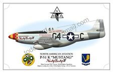 P-51 K MUSTANG - NOOKY BOOKY IV - Poster Profile
