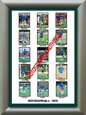 CHELSEA - 1969-70 - REPRO STICKERS A3 POSTER PRINT