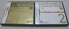 Used Club Nintendo DS Game & Watch Collection. 1 And 2 Set. Japanese Version.