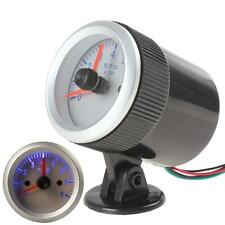 0~8000RPM Silver High Sensitivity Auto Car Tachometer Tach Gauge with Holder Cup