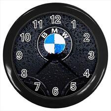 BMW Car Emblem Wall Clock (Black Frame) - Wall Decor