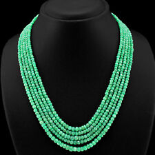 BREATHTAKING 262.00 CTS NATURAL GREEN EMERALD BEADS NECKLACE $$$ - GEM EDH