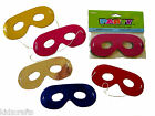 Foil Eye Masks 16x7cm With Elastic Kids Craft Activity Assorted Colours Pack 8