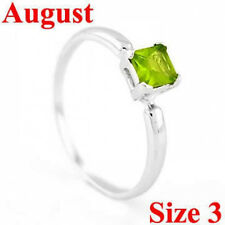 STERLING SILVER AUGUST BIRTHSTONE CZ CHILD RING SZ 3