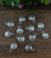 Wholesale 12pcs Tibet silver cameo shell Charm Pendant beaded Jewelry Findings !