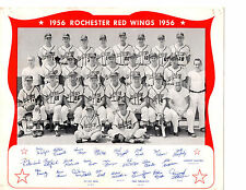 1956 ROCHESTER RED WINGS TEAM 8X10  PHOTO  NEW YORK  BASEBALL USA