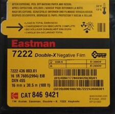 16mm EASTMAN DOUBLE-X Black & White Negative Film 7222 (2 Roll Included)