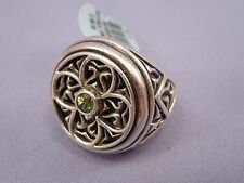 Brighton Sterling Silver Green/Peridot GOTHICA Ring Size 7 NEW