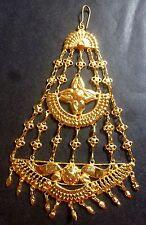 Gold Plated Indian Bollywood Dance Bridal Lehnga Hair Accessory Passa Jhoomer