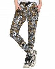 2016 NWT WOMENS VOLCOM SUNZ UP PANT $50 S army fleece paisley print welt pockets
