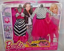Barbie Fashion Pack 2 Complete Looks (Dress & Top/Skirt) Accessories 3+ New