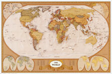 Map of the World Poster Print, 36x24 World Map