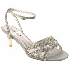 WOMENS EVENING PARTY DIAMANTE WEDDING BRIDAL SANDALS SHOES BRIDESMAIDS UK F-444
