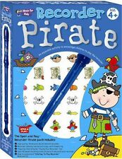 Open & Play Recorder Learn to EASY TUNES Boys Beginner Music Book CD Pirate Pack