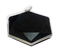 Black Tourmaline Stone Star David Faceted Healing Reiki Gemstone Natural Pendant