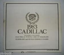 Elektrischer Schaltplan / Wiring Diagram Cadillac Eldorado Seville Diesel 1983