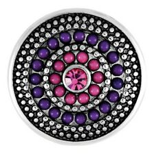 BUY 4, GET 5TH $6.95 SNAP FREE GINGER SNAPS™ JEWELRY GYPSY - PURPLE and PINK