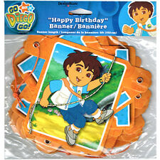 GO DIEGO GO HAPPY BIRTHDAY BANNER ~ Party Supplies Hanging Decorations Nick Jr