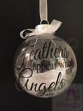 X2 Feathers Appear When Angels Are Near Decal Sticker DIY Bauble Decoration