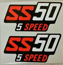 HONDA SS50 SS 50 5 SPEED SIDE PANEL DECALS X 2