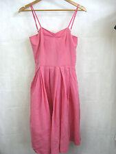 Jiva Size 1 100% Silk Pink Pleat Dress