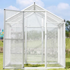 HSF Large Gentle Animals House Aluminum Bird Cage Pet Poultry Walk in Aviary